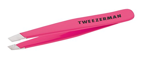 Tweezerman Mini Slant Tweezer, Flamingo Pink