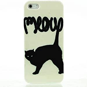 DUR Shrieking Black Cat Pattern Hard Case for iPhone 5/5S