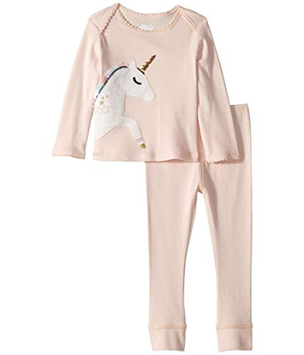 Mud Pie Unicorn 2 Piece Set,Pink,6-9 Months