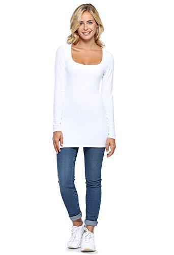Manica Paris shirt Blanc T Vous Lunga Donna Rendez wzPqUxCq