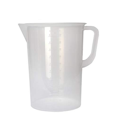 Deschem 5000ml Plastic Lab 5L Polypropylene Measuring Graduated Beaker Cup Container Handle