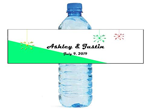Retro Satellite 70s Mid Mod Palm Springs themed water bottle labels, Weddings, Birthday, Engagement Party, Sweet 16]()