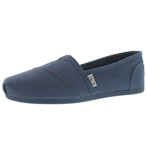 BOBS from Skechers Women's Plush - Peace and Love Flat,NVS-Navy,9 M US