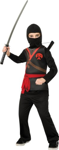 Rubie's Ninja Child's Costume, Black, Medium]()