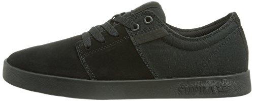 Supra Mens Stacks II Black Black Skate Shoes