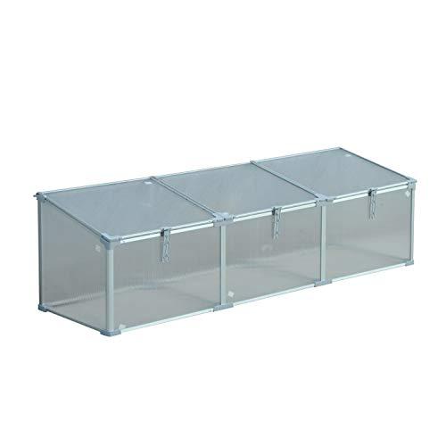 71″ Aluminum Vented Cold Frame Greenhouse – Silver/Transparent