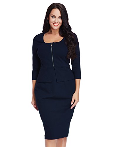 LookbookStore Womens Business Zipper Sheath