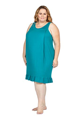 Savi Mom Plus Size Nursing/Breastfeeding Maternity Nightgown Sleepwear Dress...