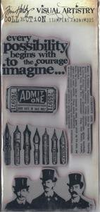 Curious Possibility Unmounted Rubber Stamp Set Tim Holtz Visual Artistry Collection