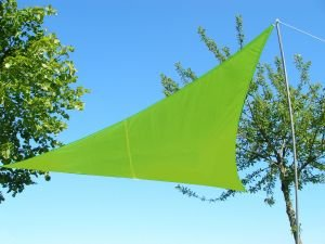 Kookaburra Waterproof Sun Sail Shade – Lime Green - 11ft 10' Triangular