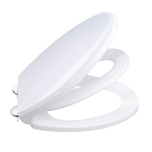 Childs Bezel - Cadrim Toilet Seat with Child Seat, Elongated and Slow Close Toilet Lid for Adults and Kids Potty Training (White)