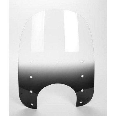 Memphis Shades Memphis Slims Gradient Black Windshield Plastic w/9 in. Headlight Cutout Height 17 in. (ZZ MEP4221)