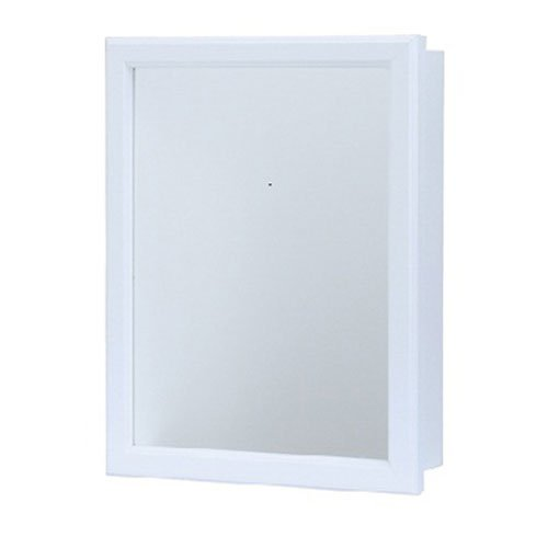 Rsi Home Products CBS1620-12-R-B Aluminum Swing Door Medicine Cab, 16'' Width x 20'' Height, White by RSI Home Products