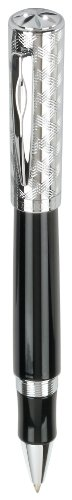 Waterford Eclipse Black & Diamond Cut Chrome Rollerball Pen (WF/543/BKC) by Waterford