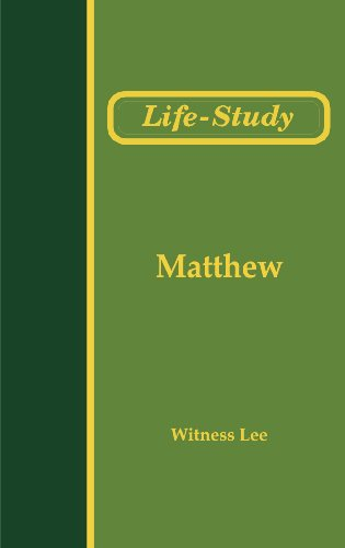 Life Study of Matthew (Life-Study of the Bible)