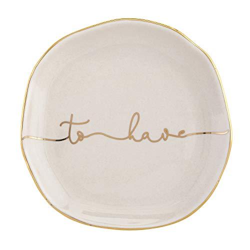 SB Design Studio Wedding Collection Blush Pink Ceramic Trinket Tray, Round, to Have