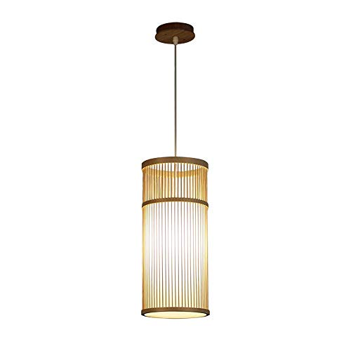 Pendant Light Single Head Zen Chandelier Bar Bedside Table Lamp Corridor Aisle Porch Lamp Home Entrance Hall Lamp Japanese Style for Bedroom, Dining Room, Kitchen (Color : Wood) (Lights Japanese Pendant)
