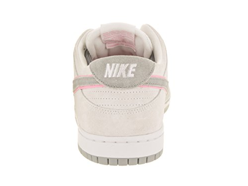 NIKE Herren SB Zoom Dunk Low Pro IW Skateschuh Weiß / Perfektes Rosa-Silber