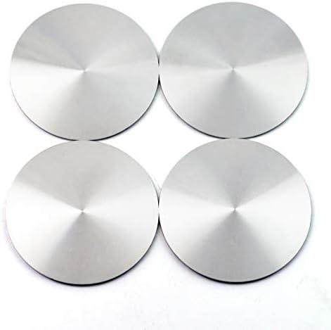 4ピース56mmシルバーレッドレーザーマーキングアルミニウムラベルステッカーセンターホイールハブラベリング