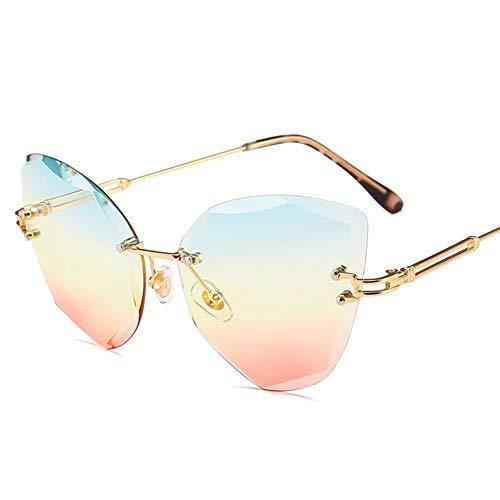 las sol sol NIFG de ojo gato brillantes F irregular Gafas gafas de de marco del del sin gradiente del gafas 138 de color m 55m 136 sol de las de r8ErTaxqw