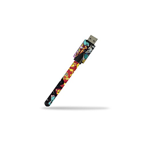 (MightySkins Skin Compatible with Kandypens Slim Battery w/USB Charger - Graffiti Wild Styles | Protective, Durable, and Unique Vinyl wrap Cover | Easy to Apply, Remove | Made in The USA)