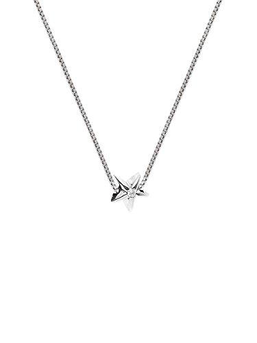 & You - Chaîne Maille Vénitienne - Argent 925 - Diamant 0.03 cts - 42 cm - DY-C01