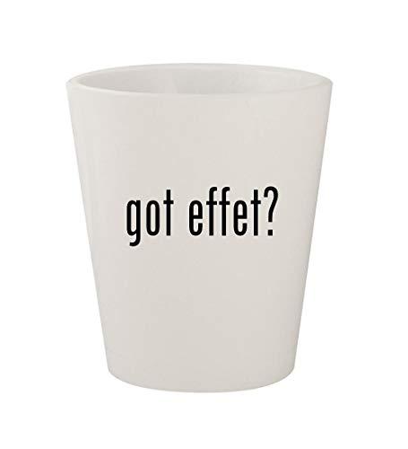 got effet? - Ceramic White 1.5oz Shot Glass