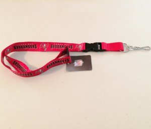 Buccaneers Team Lanyard, One Size, Multi, One Size, Red ()