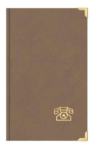 Telefonbuch Adressbuch ca DIN A5 mit Messingecken Toppoint