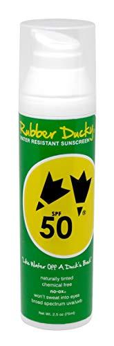 Rubber Ducky | SPF 50 Sunscreen - naturally tinted facial cream, all-natural, no-ox, chemical-free - 2.5 ounce -