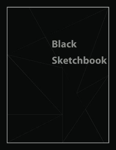 """Black Sketchbook: All Black Pages Sketchbook (Notebook) 8.5""""X11"""""""