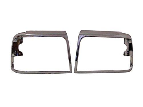 Bundle For 92-96 Ford F150 F250 F350 Headlight Door Chrome Set=Lh & (92 93 94 Headlight Covers)