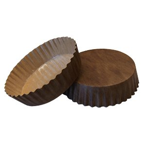 Solut 22078 PET Fluted Wall Round Baking Cup, 8-Ounce Capacity, 4-1/2'' Diameter x 1-1/8'' Depth, Solid Brown (Case of 720)