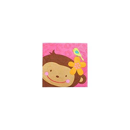 Amscan Pink Mod 'Monkey Love' Small Napkins