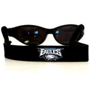 Philadelphia Eagles Neoprene Strap Holder Croakies for Sunglasses or Eyeglasses Officially Licensed NFL Football Team - Eagle Sunglasses Logo With