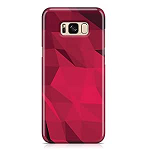 Samsung S8 Plus Case Shades of Red Geomaterical Pattern Metal Plate Light Weight Samsung S8 Plus Cover Wrap Around