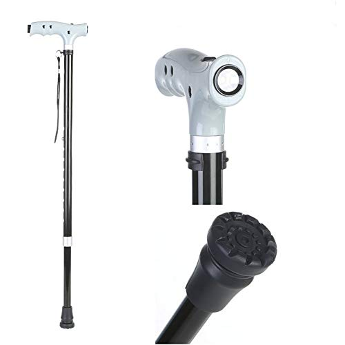(Telescopic Old Man Walking Stick Light and Light Aluminum Crutches Elderly Cane Thicken Two Sections)
