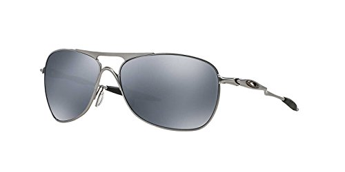 Oakley Mens Crosshair Sunglasses (OO4060) Silver/Black Metal - Polarized - 61mm by Oakley