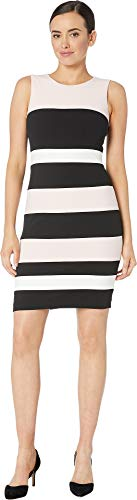 Tommy Hilfiger Women's Scuba Crepe Dress Ballerina Pink/Black/Ivory 10