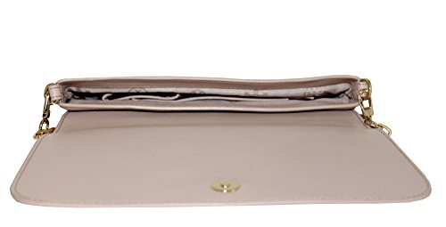 LEATHER TORY CONVERTIBLE BOMBE BURCH OAK CLUTCH LIGHT qPHP85