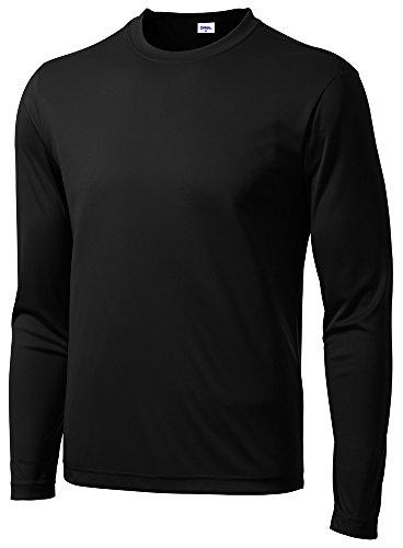 Opna Men's Long Sleeve Moisture Wicking Athletic Shirts Black-L (Athletic Shirt Mens)