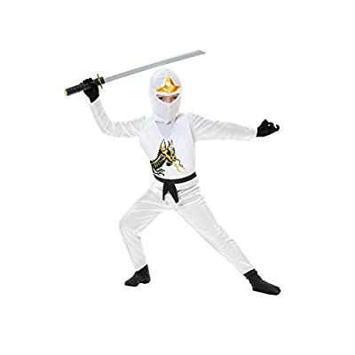 Charades Ninja Avenger Series II Child's Costume, White, X-Small: Toys & Games