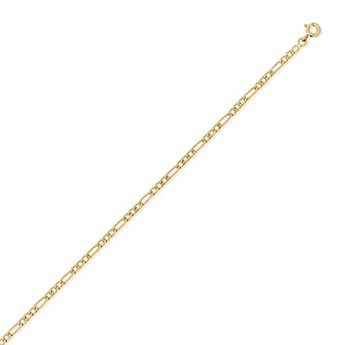 DIAMANTLY Collier or 750 goutte ovale creux alterne 2,4 mm - 50 cm