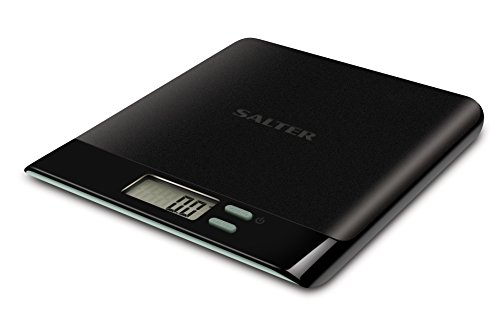 Salter Pro Digital Kitchen Scales - Electronic Food Weighing, Slim Design Cooking Scale Home Appliance, LCD Display, Add & Weigh, Compact Storage, Easy to Clean - Black