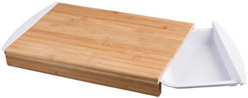 Compra Levivo Tabla de Cocina de Bambú con Bandejas Extraíbles ...