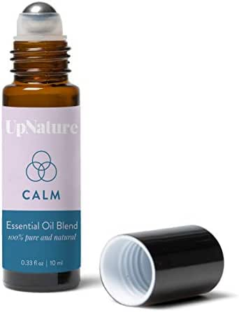 Calm Essential Oil Roll-On - Anxiety & Stress Relief - Comforting Scent - Calming Peace - Better Sleep - Easy Application Leak-Proof Rollerball - No Diffuser Needed!