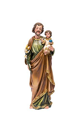 - Joystarcraft Saint St Joseph with Jesus Christ Child 10 Inch Resin Decoration Statue Holy Catholic Sculpture Figurine Home Chapel Decoration