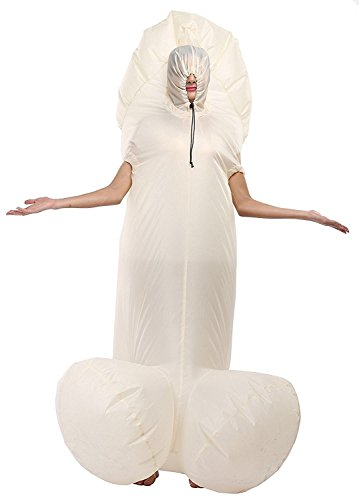 Inflatable Dick Willy Cock Penis Suit Halloween White Penis Costume Fancy Party Dress (Halloween Penis Costume)