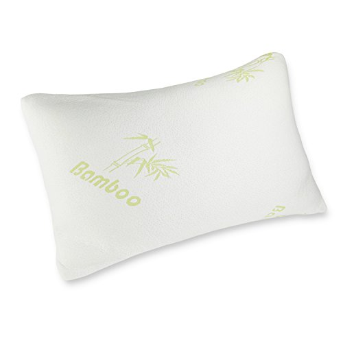 Price comparison product image Luxor Linens - Shredded Memory Foam Bamboo Pillow with Aloe Vera-infused Cooling Cover, Hypoallergenic Luxury Hotel Collection- White - King