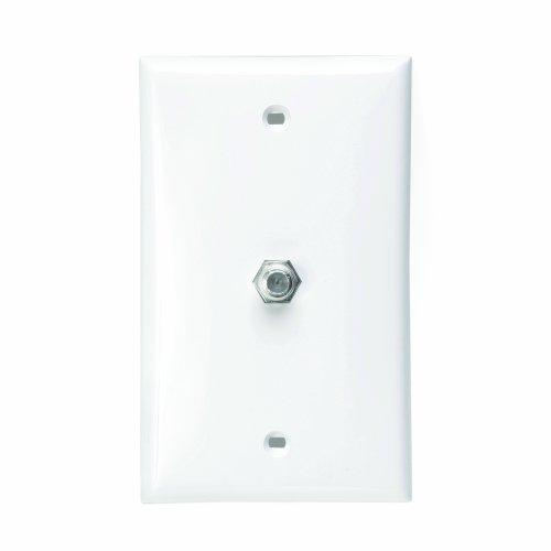 Coax Wall Plate - LEVITON 80781-W F-Connector Wall Plate (White)